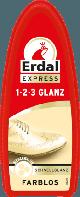 Очищающая полирующая губка с пчелиным воском Бесцветная Erdal Schuhcreme 1-2-3 Glanz Schuhschwamm Farblos, 1шт