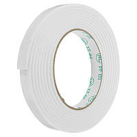 5Pcs 1.4cmx3m Белый PE Пена Двусторонняя лента Сильная клейкая губка Монтажная лента