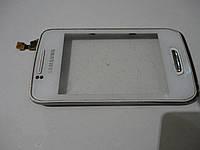 Сенсор в рамке для samsung Wave Y S5380D б.у. оригинал