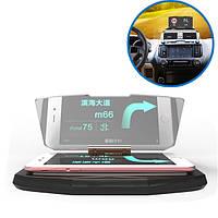 Авто HUD Qi Беспроводное зарядное устройство Head Up Navigation Дисплей Стекло Отражатель для iPhone 8 Samsung S8