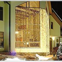 """Новогодняя LED гирлянда-занавес """"Водопад"""" 3 х 3м. 480 LED, гирлянда штора белая, синяя, желтая, разноцветная"""