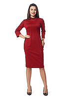 Платье для полных  новинка Шарлотта А5 размеров  от 46 до 56 бордовое