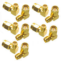 10 PCS SMA для мужчин до RP-SMA Женский переходник с прямым углом RF Коннектор SMA-J до RP-SMA-K 90 градусов RC Дрон