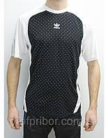Мужская футболка Adidas из полиэстера, одежда брендовая V-b-w_407, футболки в Украине
