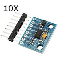 10 штук GY-291 ADXL345 3-осевое наклонение Цифровое ускорение силы тяжести Датчик Модуль для Arduino