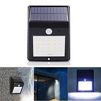 Солнечная 20 LED PIR Motion Датчик Настенный светильник На открытом воздухе Водонепроницаемы Yard Path Сад Безопасность Лампа