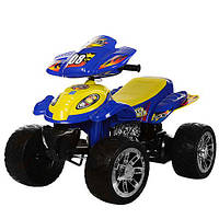 Квадроцикл M 2403ER-4 (1шт) 2мотора 28W, 2аккум 6V7AH,ева.колеса,перекл.скор,синий