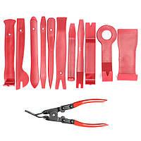 12шт.АвтоДвернаяформовочнаяпанельдля снятия штрих-кодов Инструмент Набор & Clip Pliers