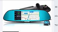 "Видеорегистратор зеркало + SIM, 3G, 7"" 16ГБ GPS 2 камеры WIFI FM трансмисер MP4 MP3"
