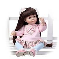 22 '' Handmade Reborn Baby Кукла Girl Newborn Lifelike Soft Vinyl Силиконовый Подарок