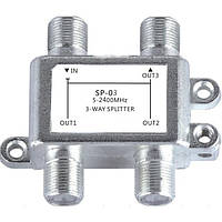 Jasen SP03C Satellite 3 Way HD Цифровой коаксиальный кабель Splitter Bi-направленный MoCA Коннектор для SATV / CATV