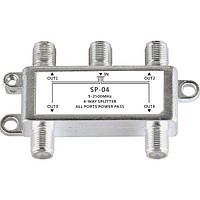 JasenSP04Satellite4-WayCoaxCable Splitter Bi-направленный MoCA Коннектор Предназначен для SATV / CATV