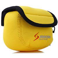 SOOCOO Nylon Желтое действие камера Несущее хранение Сумка с зажимом для ремешка