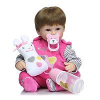 18 'Реалистичная ручная игрушка для девочек-кукол для новорожденных Lifelike Vinyl Alive Reborn Baby Doll Handmade Toys