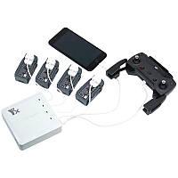 6 В 1 Multi Батарея Двойной USB Дистанционный Контроллер Телефонный концентратор зарядного устройства Параллельный для DJI Spark Дрон