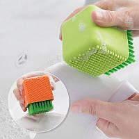 Honana BC-565 Многоцелевое бытовое Ванная комната Силиконовый Очистка Щетка Макияж Чистящее средство для мытья посуды Инструмент Чистка прачеч