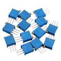 100R-1M 39pcs 13 Значения 3296 Комплект потенциометров с регулируемым комплектом компонентов для защиты от прыщей 3 шт. Каждое значение
