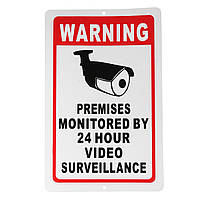 18x28cm Главная Безопасность видеонаблюдения Безопасность камера Наклейка с предупреждающим надписью наклейки с надписью