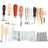 35штDIYКожаноеремеслоШвейнаяшвейная косилка Skiring Groover Punch Инструмент Набор