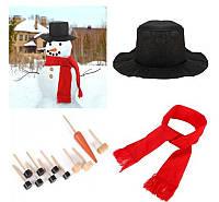 15PCSРождественскаявечеринкаДомашнееукрашениеМоделирование Зимние костюмы для снеговиков для детей Chlidren Gift
