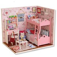DiyМиниатюрныедеревянныеКуклаНаборымебели для дома Handmade Craft Модель Игрушки Подарок для детей