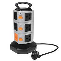 HAWEEL Power Разъем 3 слоя 11 правил Разъем USB-порты Smart Power Outlet