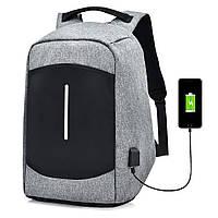 Мужчины Холст Многофункциональный Спорт Сумка Повседневный Анти Кража 17 Рюкзак с USB-портом зарядки