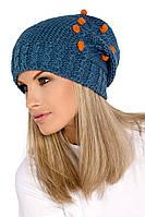 Польская женская шапка- чулок Tree TM Loman, полушерстяная, джинсовый цвет