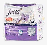 Jessa Medium Гигиенические подгузники-трусики для взрослых (6 капель) 14 шт.