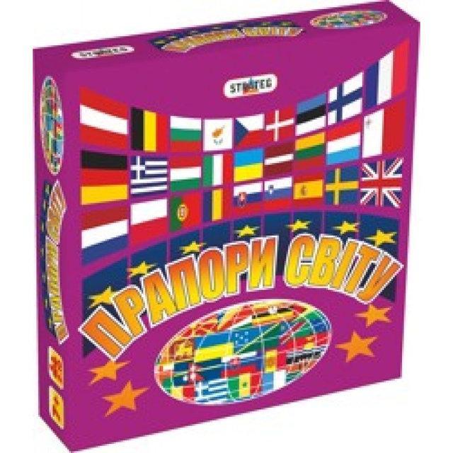 Настольная игра Флаги мира 648 Strateg Прапори світу
