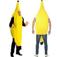 Для взрослых Unisex Funny Banana Костюм Желтый костюм Свет Хэллоуин Рождество Фрукты Причудливый Платье