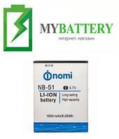 Оригинальный аккумулятор АКБ батарея Nomi NB-51 для Nomi i500 1800mAh 3.7V