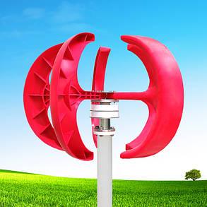 12V/24V 200W Красный фонарь Стиль Вертикальный ветрогенератор Ветроэнергетический генератор 1TopShop, фото 2