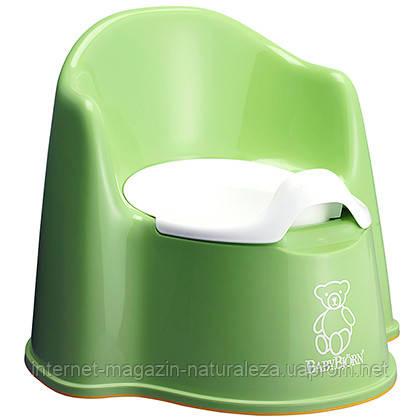 Детский горшок BabyBjorn зеленый
