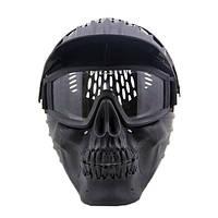 Череп Лицо Маска Хэллоуин W / Goggles для Военный CS Airsoft Череп Пейнтбольная военная игра