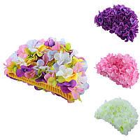 ЦветыДизайнCapДеликатныеперсонализированныетрехмерные лепестковые плавательные шапки для длинных Волосы Продажа