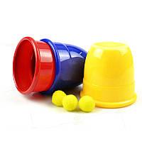 FunnyTrickPropsThreeВолшебныйЧашки Игрушки для детей Детский подарок