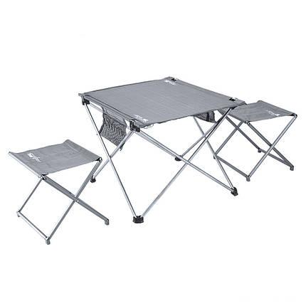 BRS-T03 3шт Набор портативных складных стульев для стола Сверхлегкий алюминиевый сплав Кемпинг Настольные табуреты, фото 2