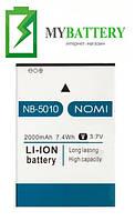 Оригинальный аккумулятор АКБ батарея Nomi NB-5010 для Nomi i5010 EVO M 2000mAh 3.7V