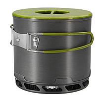 IPRee®1.2LНаоткрытомвоздухеТеплообменник с теплообменником Кемпинг Пешеходный алюминиевый чайник Пищевая посуда