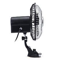 6 дюймов Черный 12V 24V Mini Авто Вентилятор для адсорбционной вентиляции Вентилятор охлаждения-1TopShop, фото 2