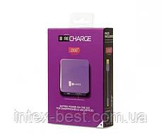 Портативное зарядное устройство TechLink Recharge 2500 Purple, фото 3