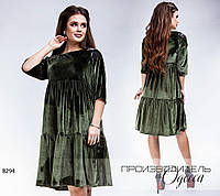 Платье с погонами R-8294 хаки