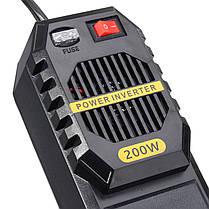 200WАвтоИнверторпитанияDC12V до AC 220V с 4 USB-порт Прикуриватель 1TopShop, фото 3