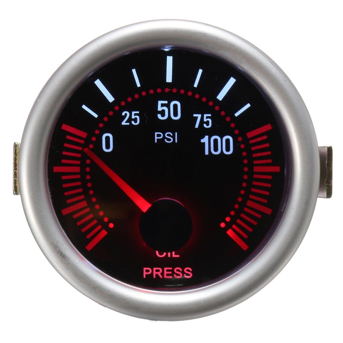 Универсальный 2 дюймов 52 мм Авто Авто LED LCD Цифровой Масло Датчик давления Манометр для лица Черный 1TopShop