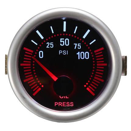 Универсальный 2 дюймов 52 мм Авто Авто LED LCD Цифровой Масло Датчик давления Манометр для лица Черный 1TopShop, фото 2