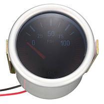 Универсальный 2 дюймов 52 мм Авто Авто LED LCD Цифровой Масло Датчик давления Манометр для лица Черный 1TopShop, фото 3