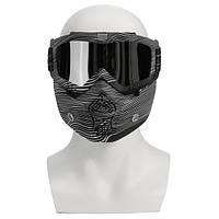 Съемный модульный защитный экран Маска Защитная защита для лица для мотоцикл Шлем Silver Clear