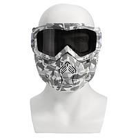 Мотоцикл Шлем в очках Ясный Темно-серый Объектив Съемный модульный Маска