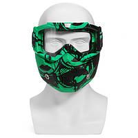Мотоцикл Шлем Съемный модульный Маска Защитные очки Защитная крышка для лица Clear Light Green Объектив